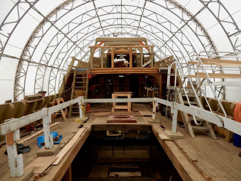 Topside, Mayflower II, Mystic Seaport CT