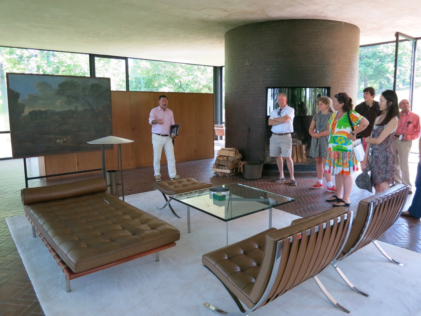 Interior of Philip Johnson's Glass House, New Canaan CT
