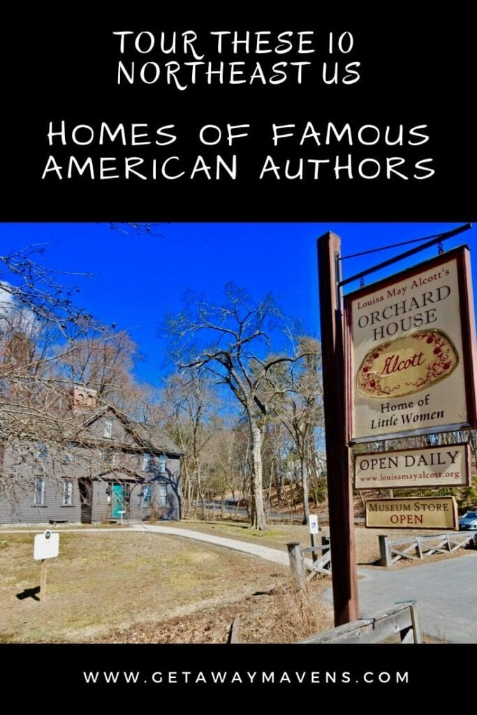 Homes of Famous Authors Northeast US pin