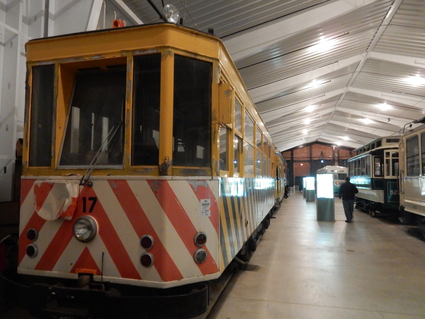 Antique Streetcars at National Capital Trolley Museum Colesville MD