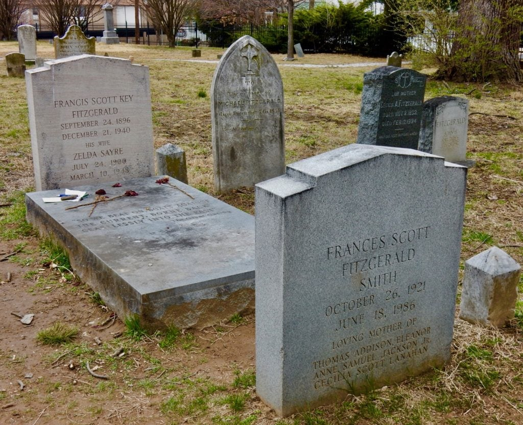 Headstones at F. Scott Fitzgerald's Grave in St. Mary Churchyard, Rockville MD