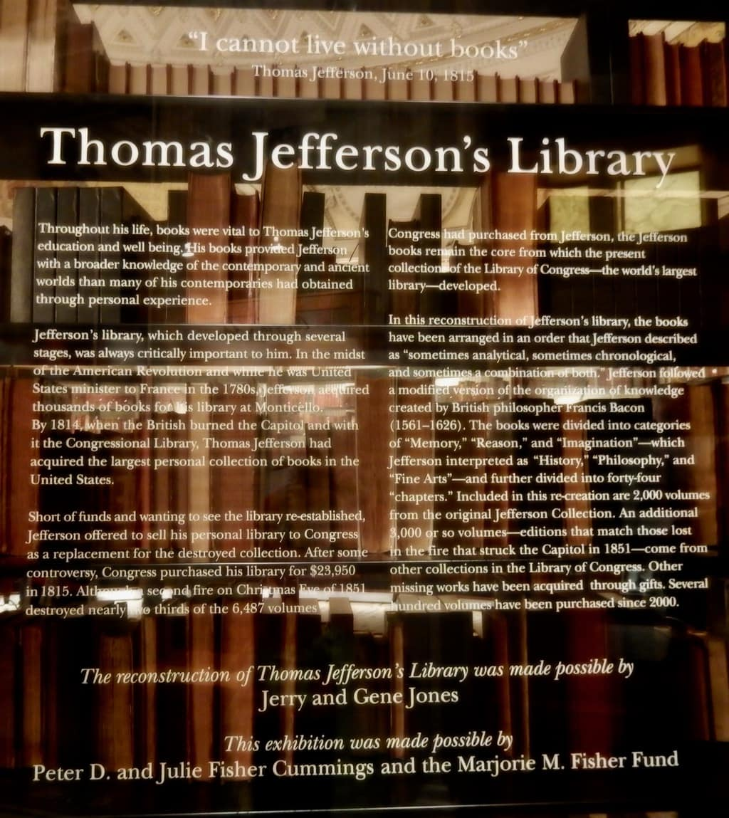 Thomas Jefferson Library - Library of Congress Washington DC