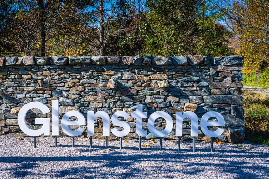 Front sign at Glenstone Museum