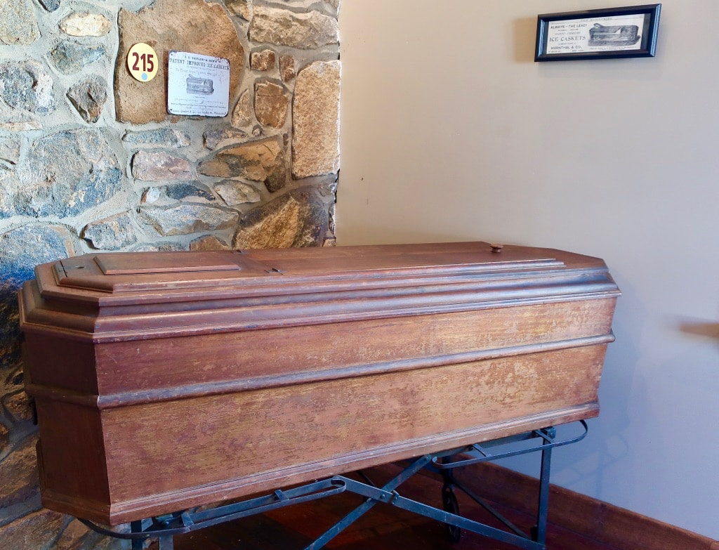 Civil War Era Ice Casket for transporting fallen soldiers Antique Ice Tool Museum PA