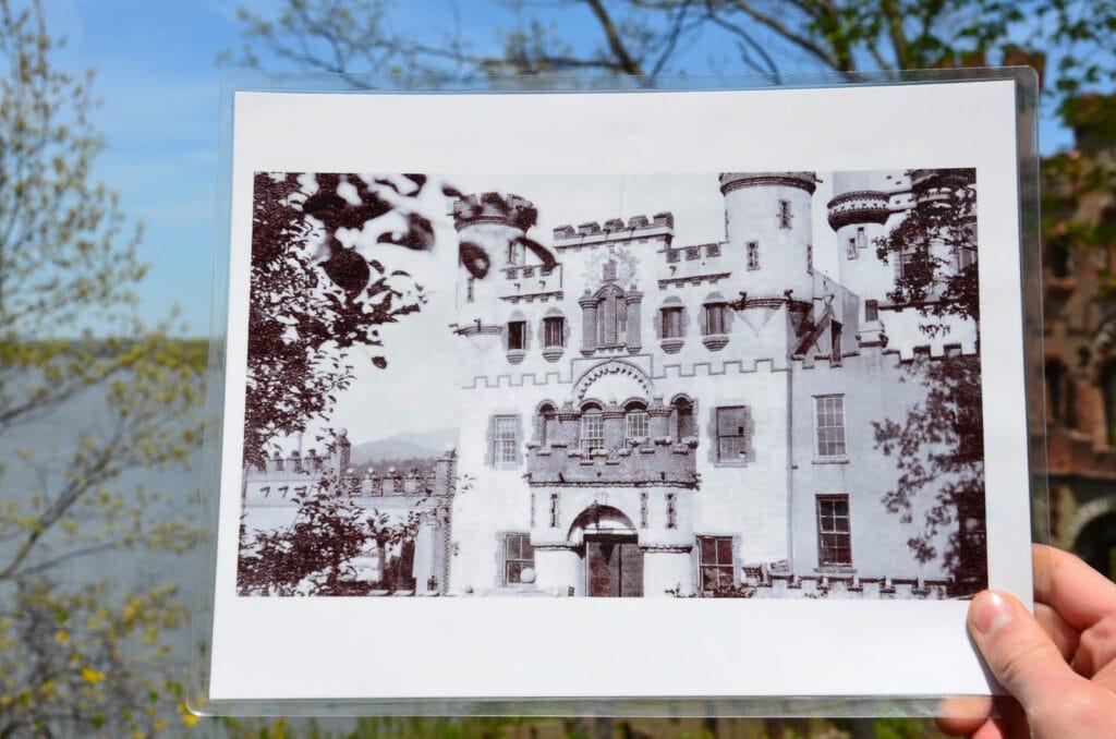 Bannerman Castle Illustration