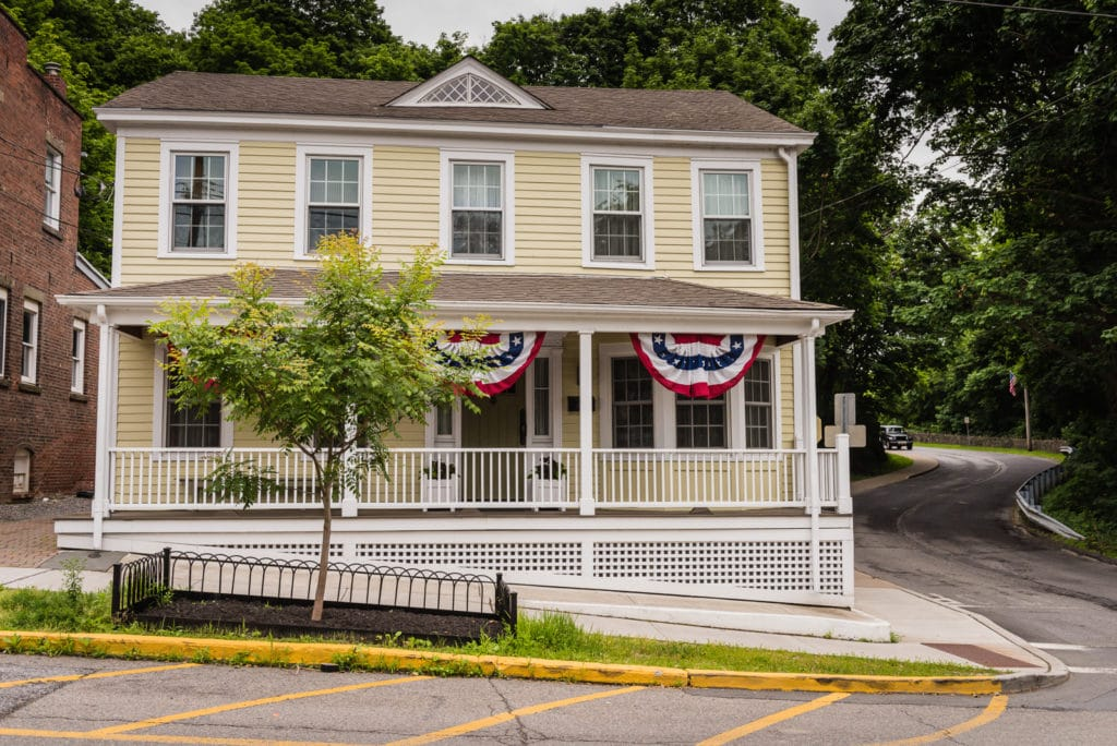 One of the many historic homes you will encounter on a day trip to Cold Spring NY.