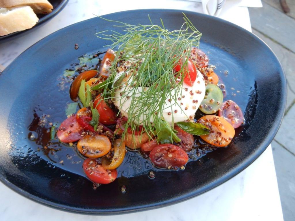 Burrata Salad, Strangers and Saints