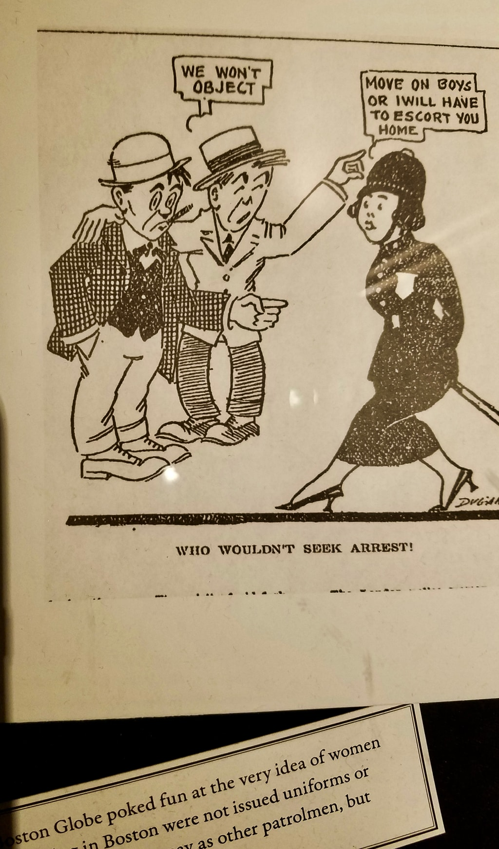 Woman Cop Cartoon, Loews Boston Hotel