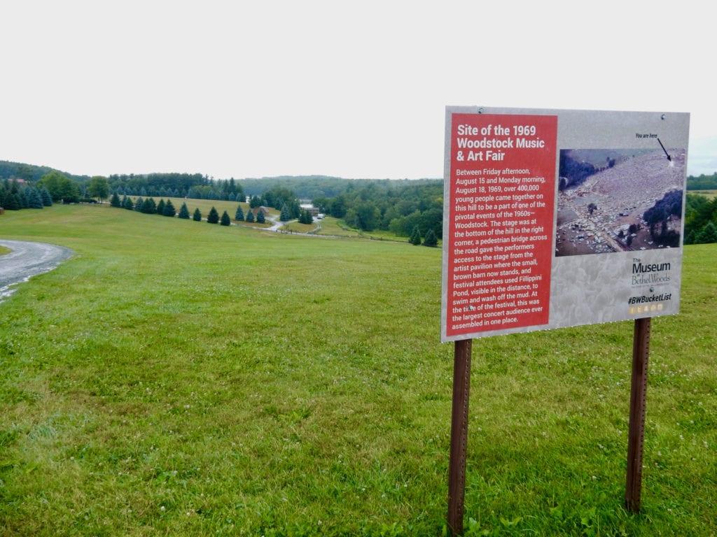 Site of Woodstock Music Festival Bethel NY