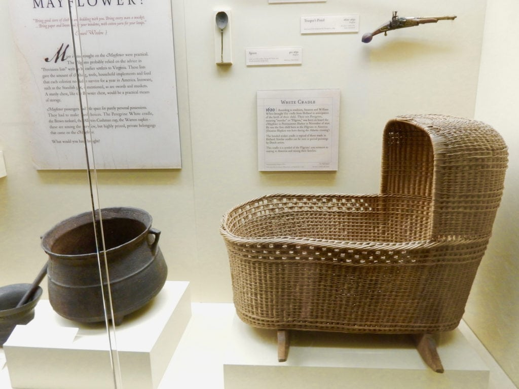 Cradle from the Mayflower Pilgrim Hall in Plymouth MA