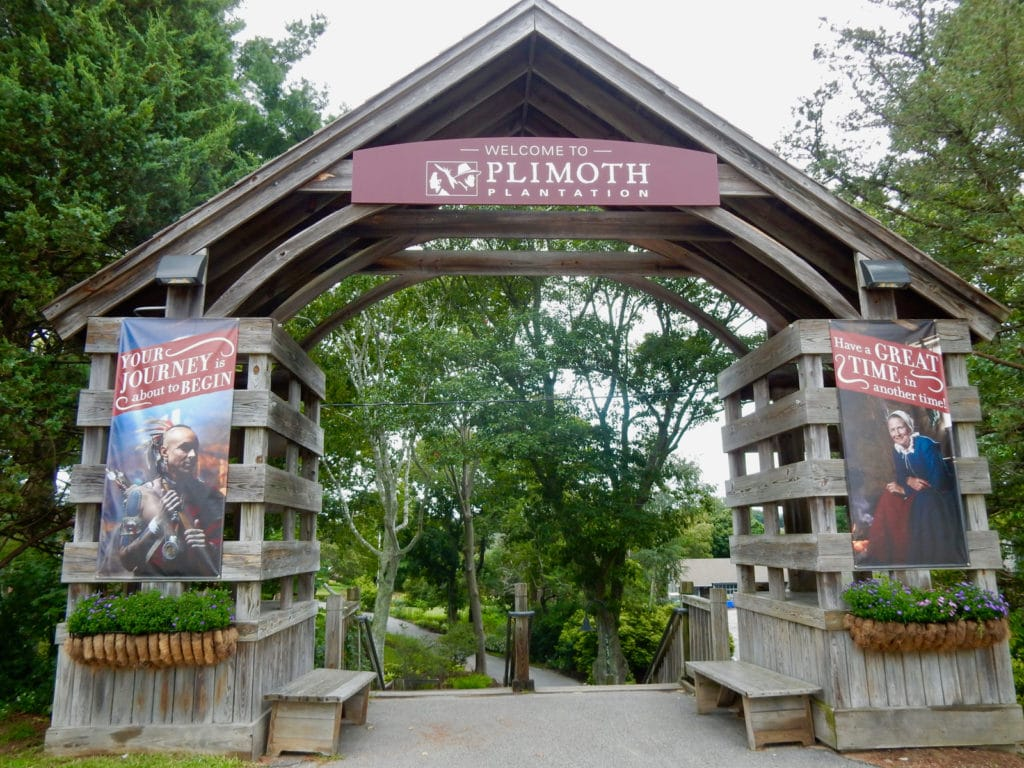 Entrance to Plimoth Plantation Plymouth MA