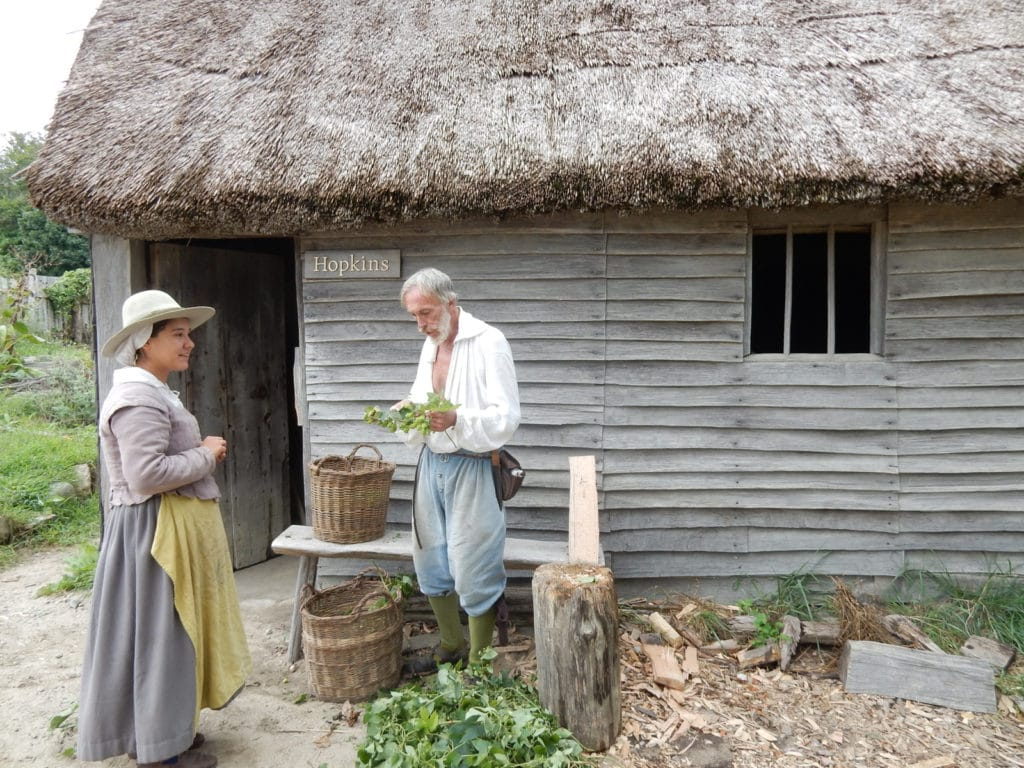 Costumed Docents at Plimoth Plantation in Plymouth MA