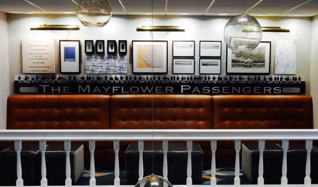 Mayflower Passengers Seating Area - Hotel 1620 - Plymouth MA