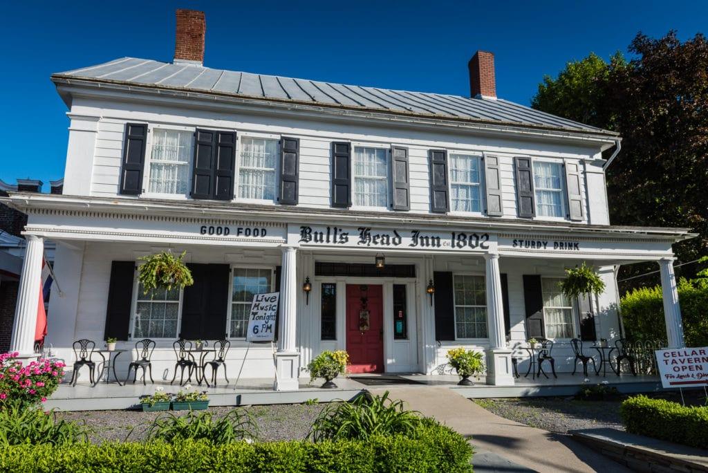 Front exterior of Bulls Head Inn in Cobleskill NY