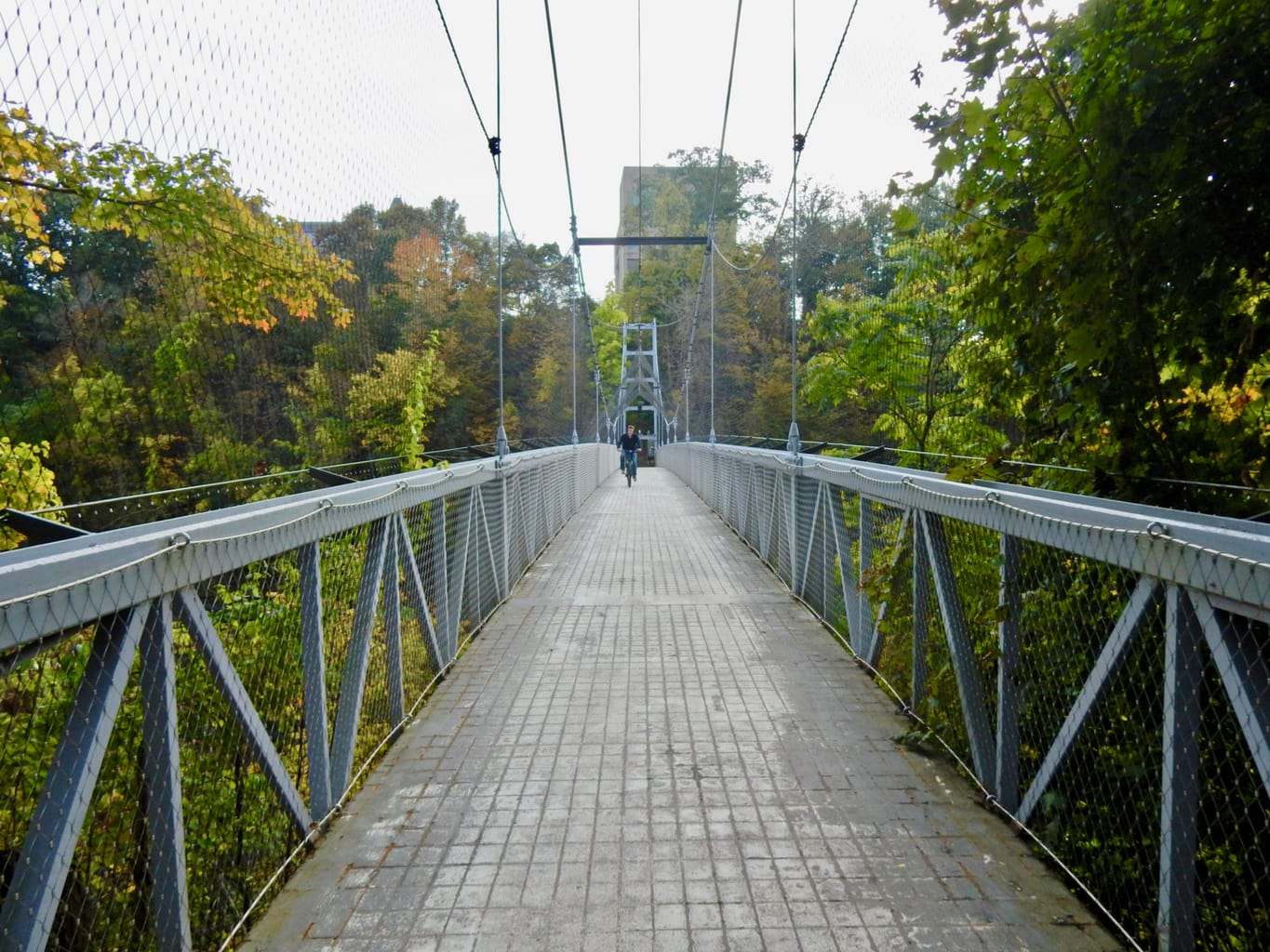 Cornell Height's Suspension Bridge Ithaca NY