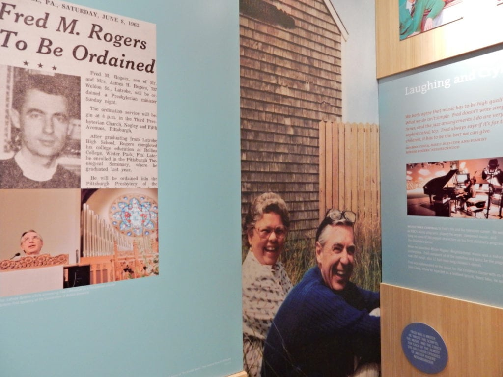 Fred Rogers Exhibit at St. Vincent College Latrobe PA