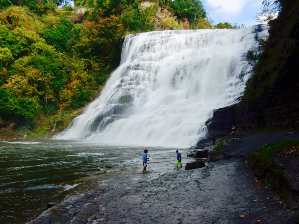 Ithaca Falls for Romantic Waterfall Enthusiasts in Ithaca NY