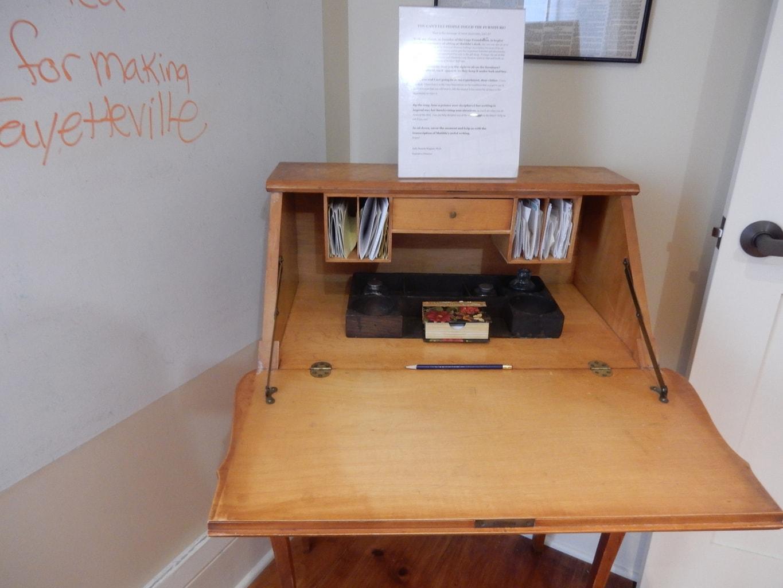 Matilda Joslyn Gage Desk, Fayetteville NY