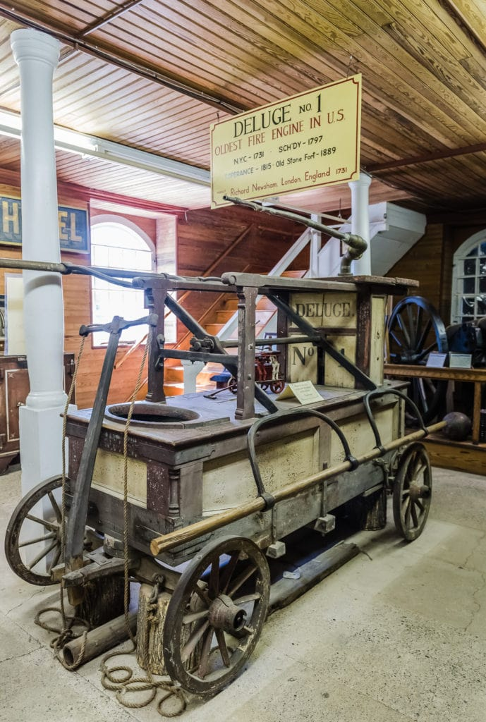 Oldest Fire Engine in US on display at Old Stone Fort Museum in Schoharie NY