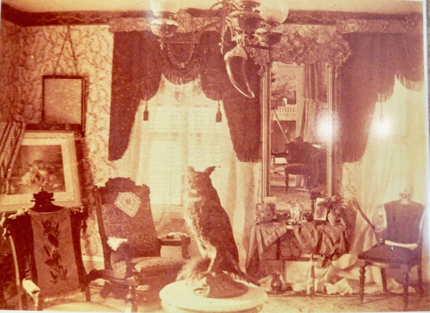 Photo of Matilda Gage parlor by L. Frank Baum Fayetteville NY