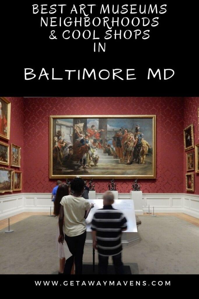 Baltimore MD Art Shopping Pin
