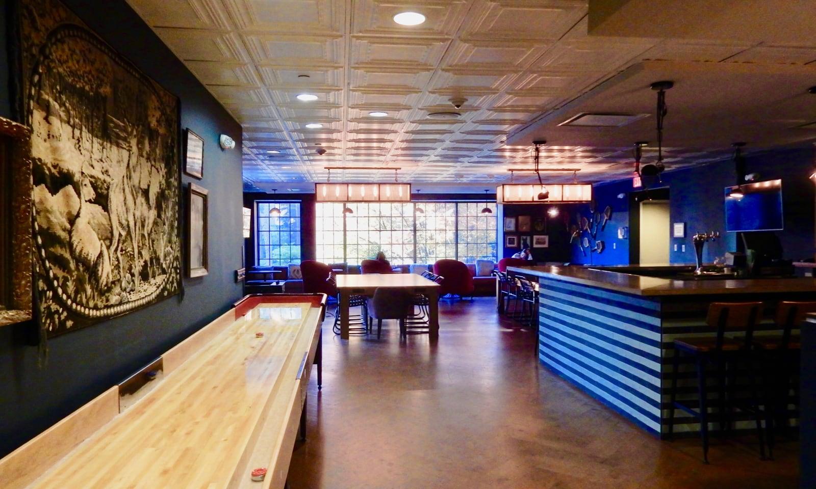 Game Room Bar Graduate Hotel Charlottesville VA