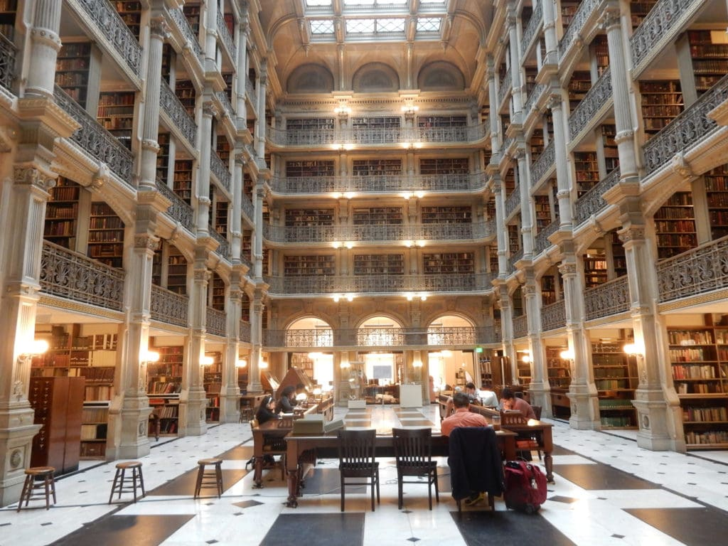 George Peabody Library Johns Hopkins University Baltimore