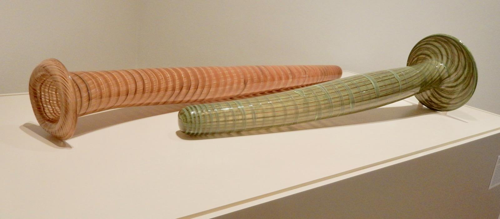 Glass interpreted fish nets Kluge-Ruhe Aboriginal Art Museum Charlottesville VA