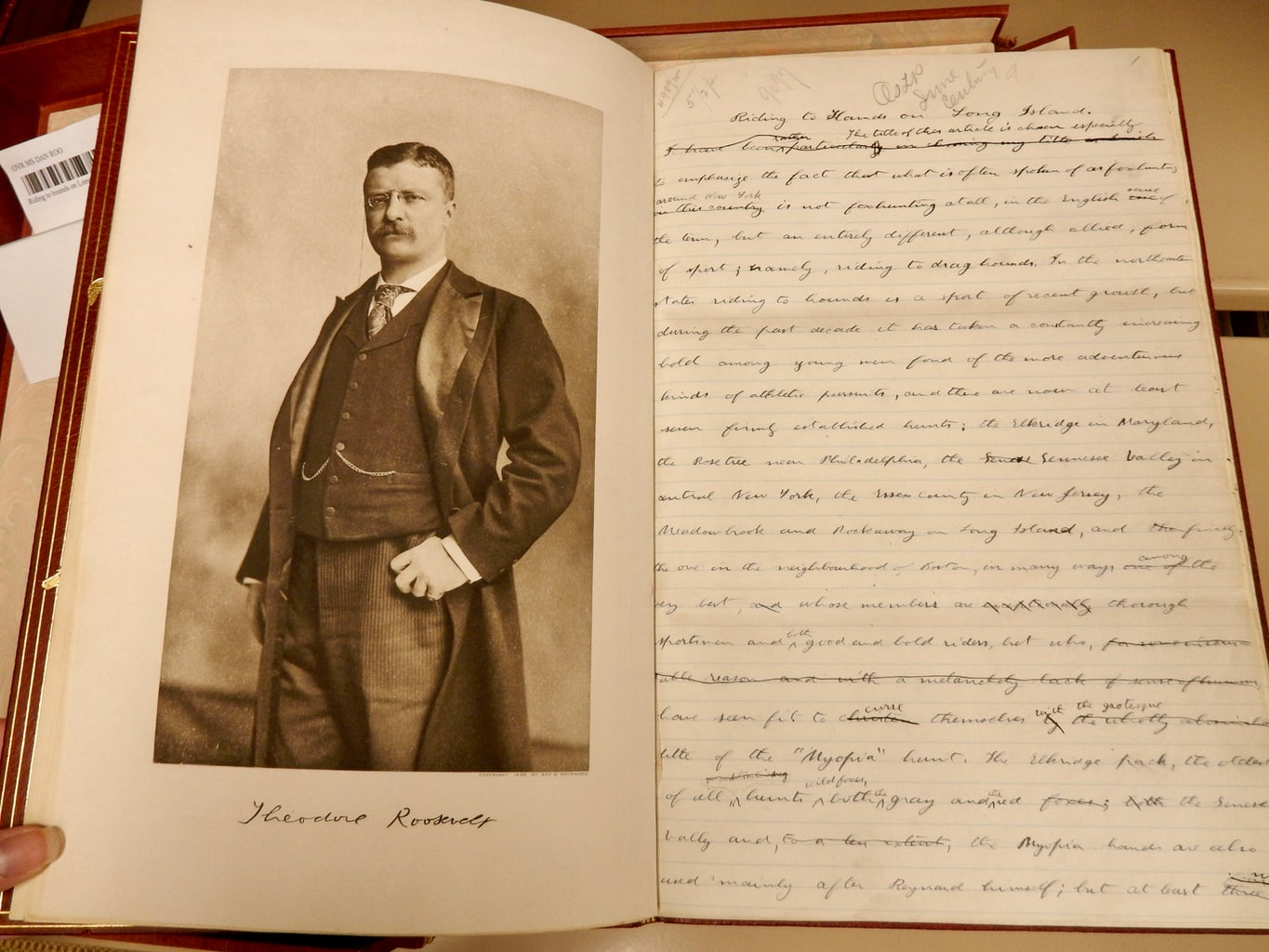 Teddy Roosevelt Essay National Sporting Library and Museum Middleburg VA