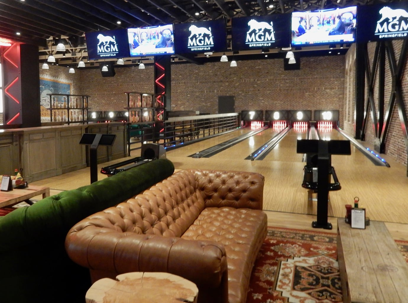 MGM Springfield Tap Bowling Alley