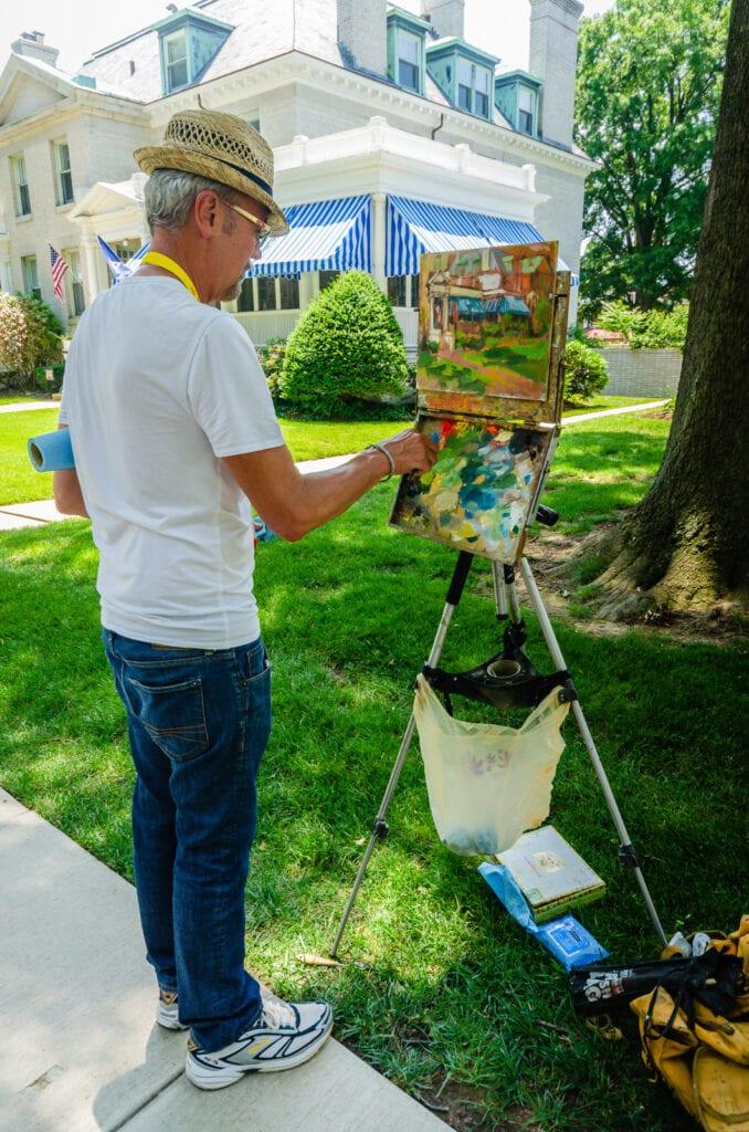 Plein air painting in Annapolis MD
