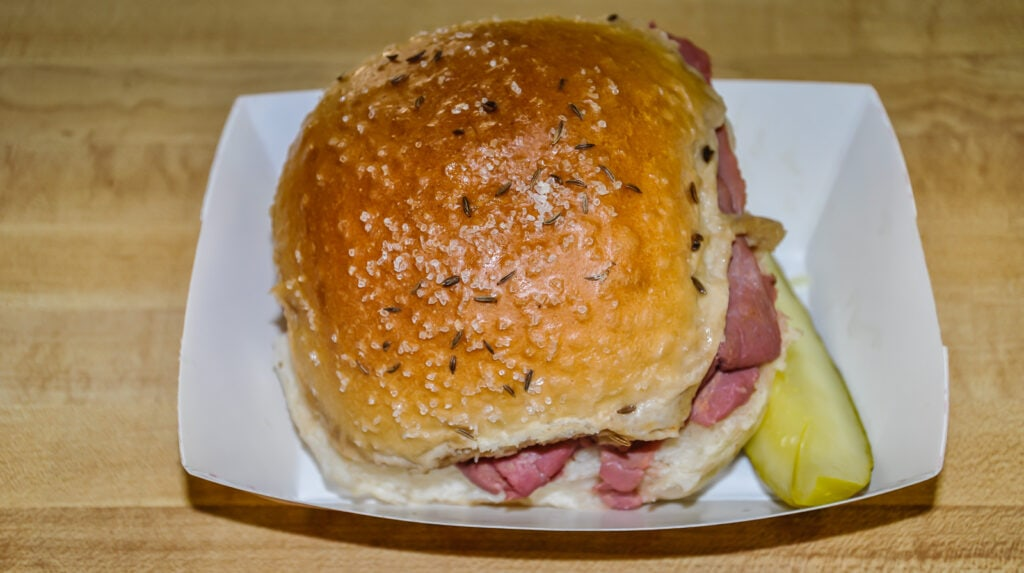 Beef on Weck sandwich from Charlie the Butcher in Buffalo NY