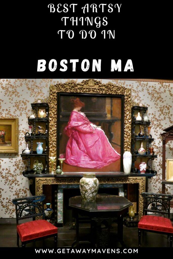 Boston MA Art Pin