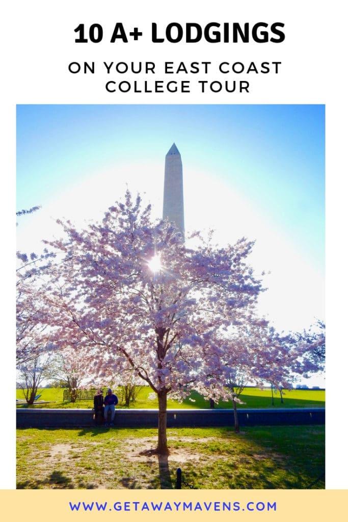 10 Great Places to Stay on Your East Coast College Tour #Cornell #Ithaca #Rochester #VMI #WashingtonandLee #GeorgeWashingtonU #AmericanU #SyracuseU #WestChesterU