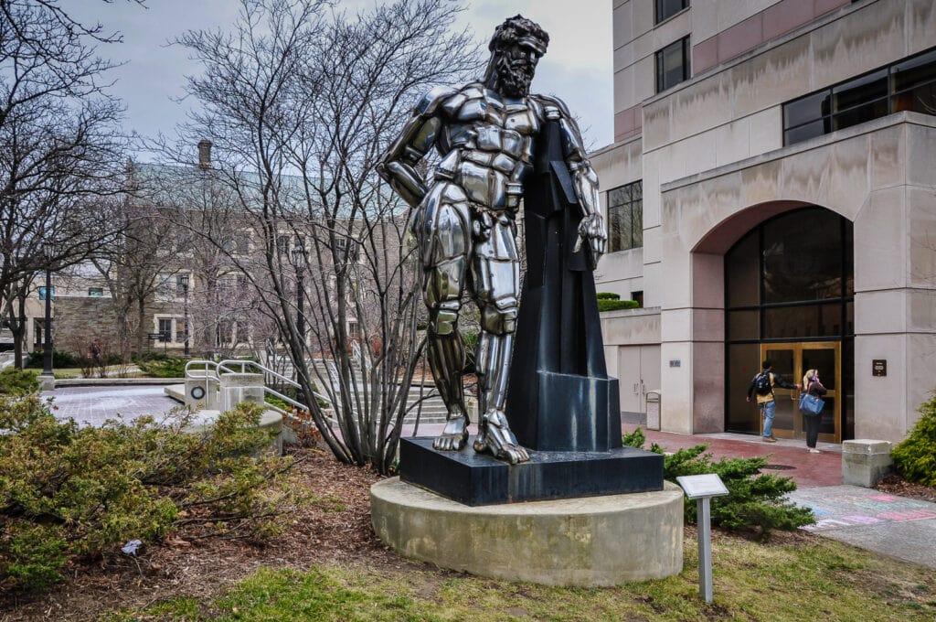 Herakles In Ithaka I by Jason Seley at Cornell University in Ithaca NY.