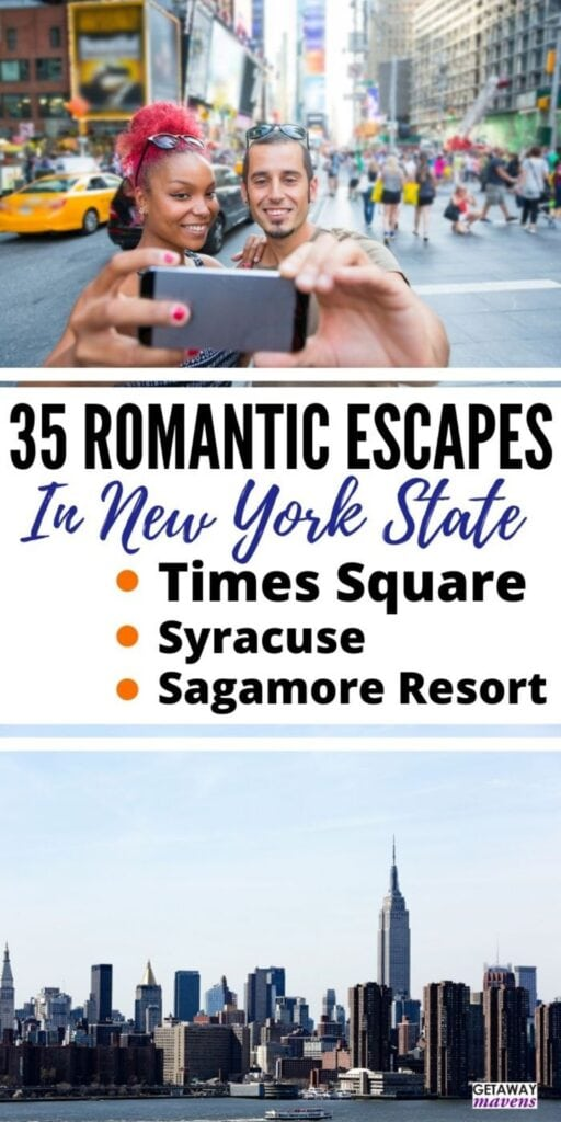 Romantic Getaways in NY Pinterest Pin