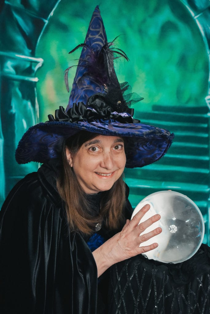 Witch Pix Customer with point hat and crystal ball