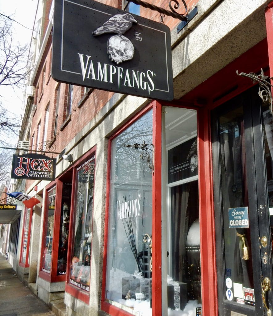 Hex and VampFangs magic stores in Salem MA