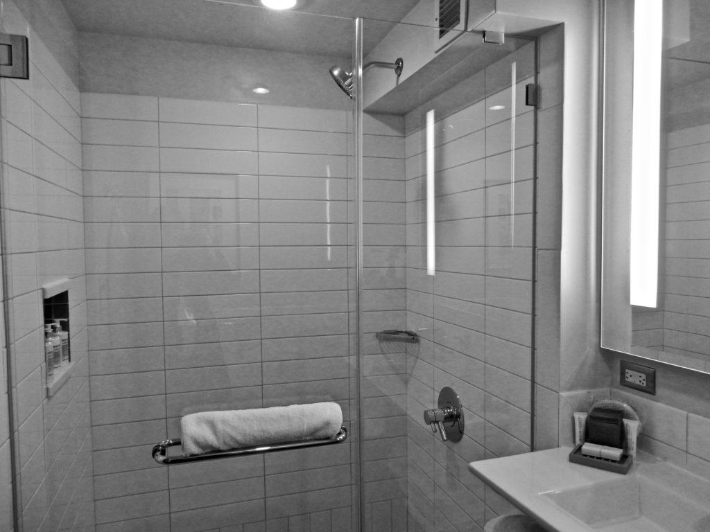 Subway Tile Glass Shower Hotel 48LEX NY NY
