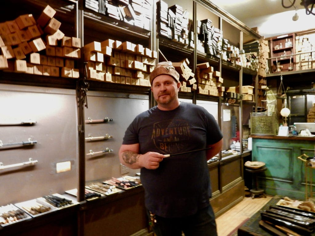 Tim Maguire, owner, Wynott's Wands Salem MA