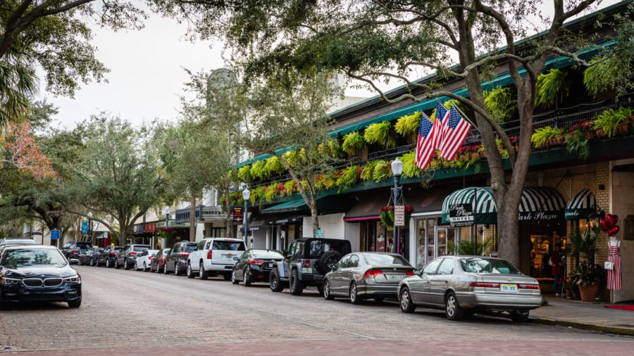 Winter Park Florida street scene
