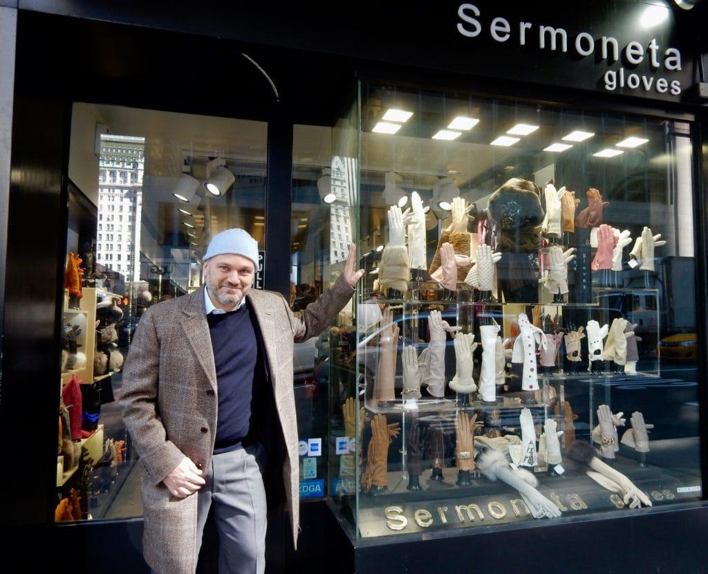 Aldo Sermoneta Sermoneta Gloves Madison Ave. NY NY