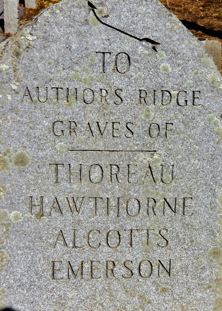 Authors Ridge Sleepy Hollow Cemetery Concord MA