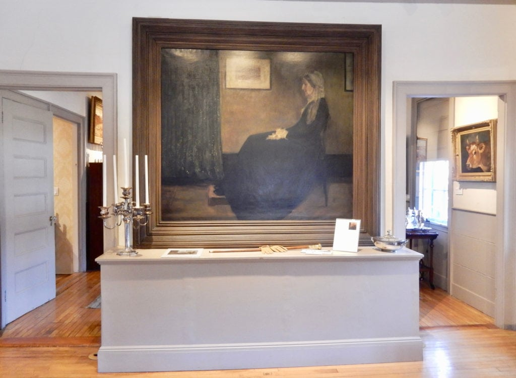 Copy of Whistlers Mother by cousin Edith Fairfax Davenport, Whistler Art Museum Lowell MA