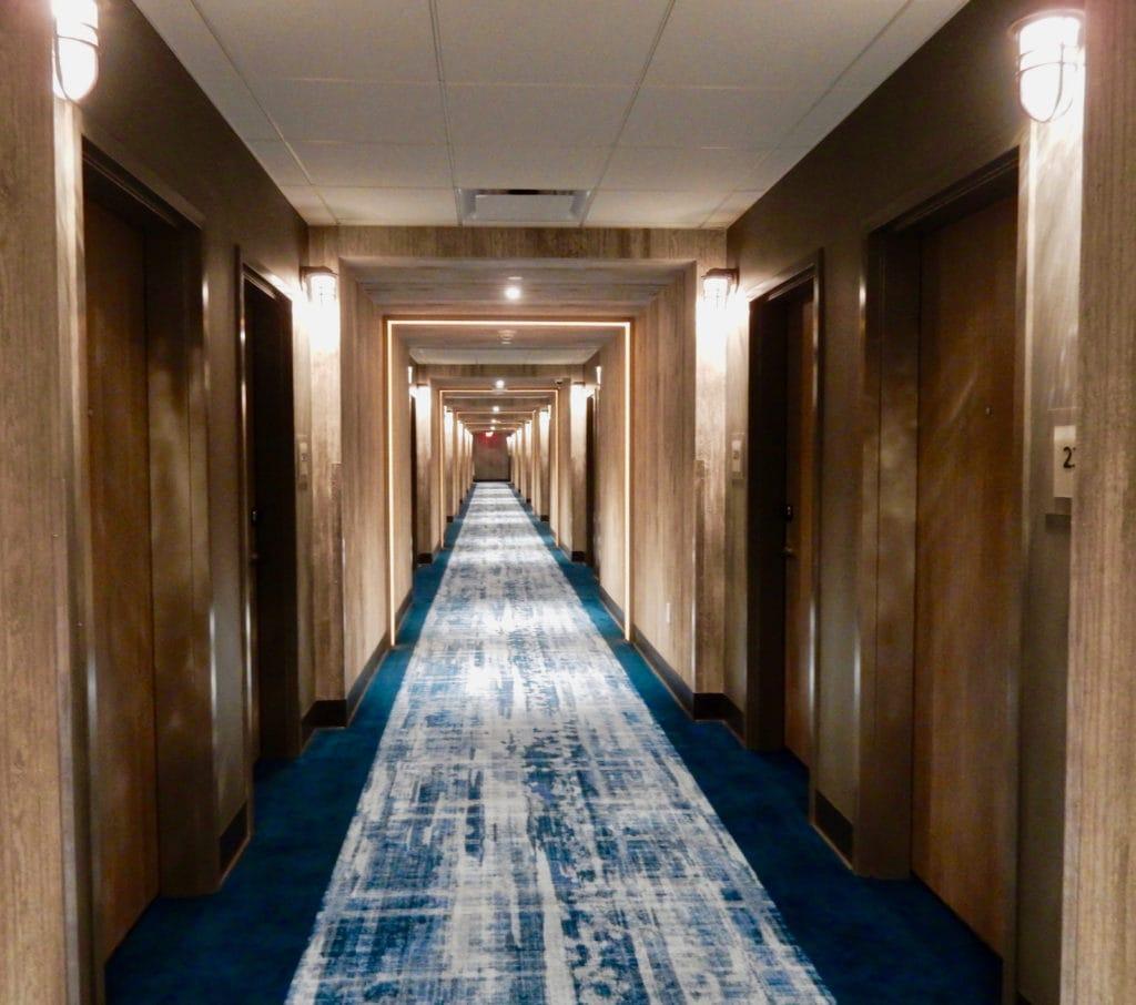 Corridor at Alder Hotel Resorts World Catskills NY