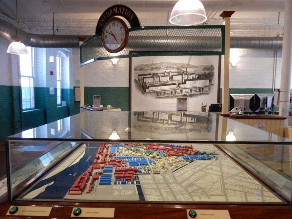 Diorama of Lowell Mills Boott Mills Museum Lowell MA