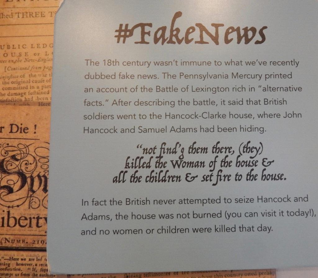 Fake News 1775 Lexington MA