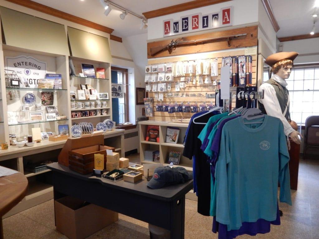 Lexington MA Visitors Center Gift Shop