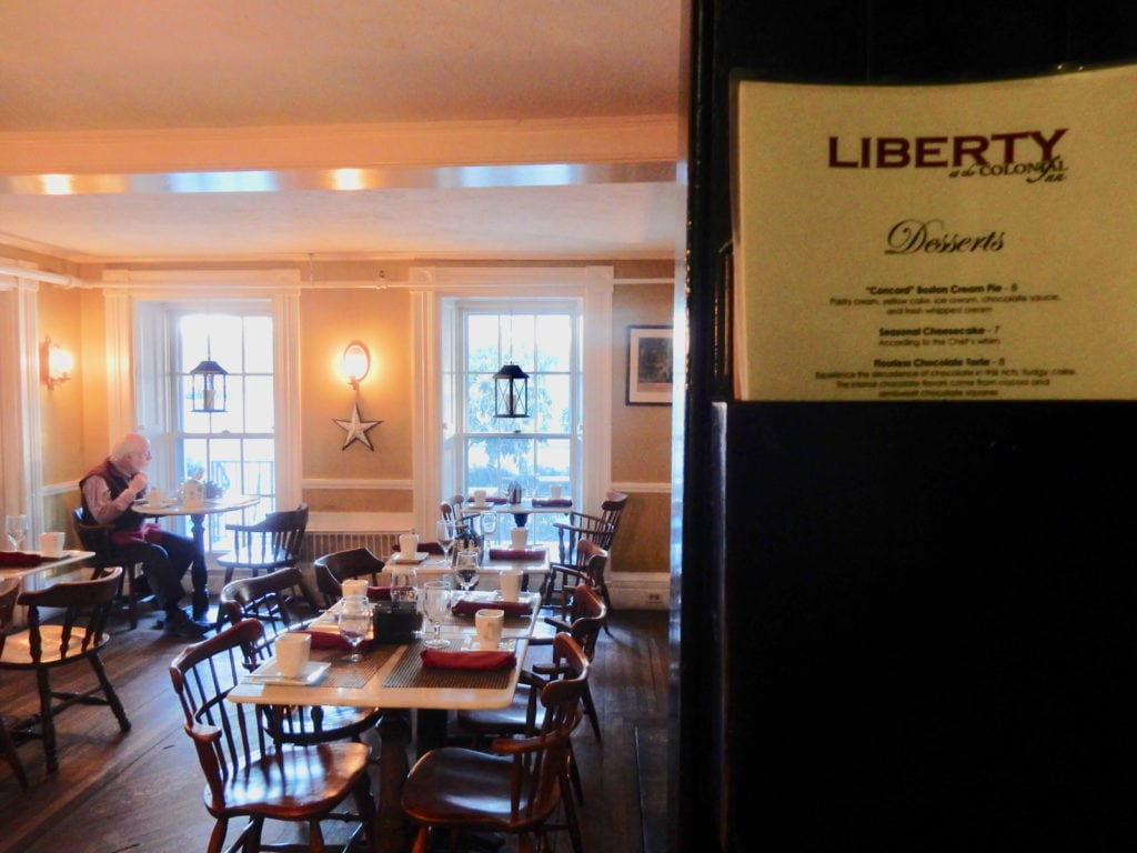 Liberty Room Colonial Inn Concord MA