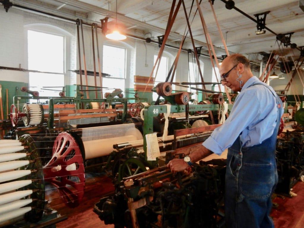 Loom mechanic, Juan Viera, Lowell National Historical Park MA